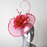 15618 Hot Pink Fascinator-Hatinator SD773